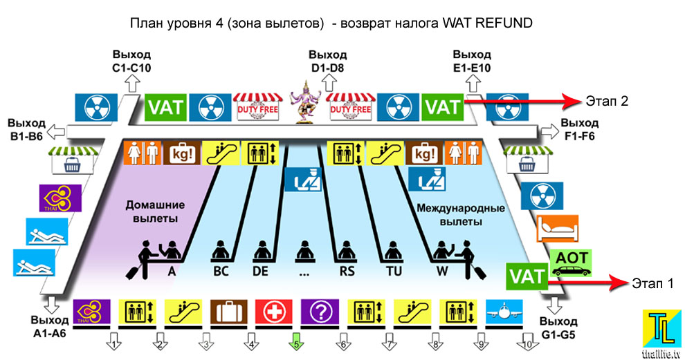 План 4 этажа аэровокзала
