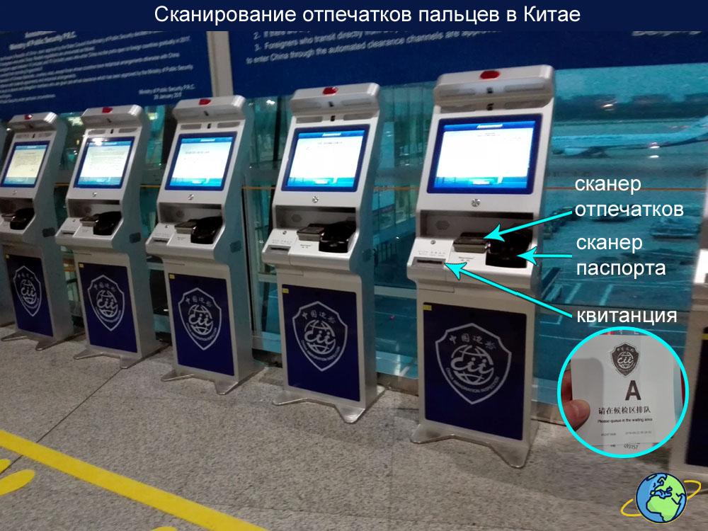 Терминал для снятия отпечатков пальцев
