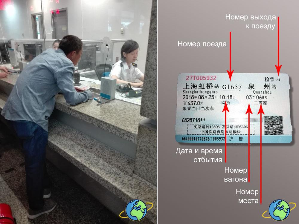 Как читать билет на китайский поезд