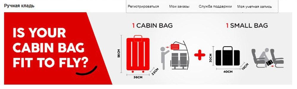 Нормы провоза багажа в эйир азии